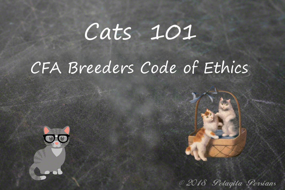 CFA Breeders Code of Ethics